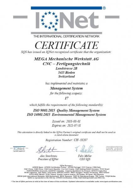 ISO9001 / ISO14001 International