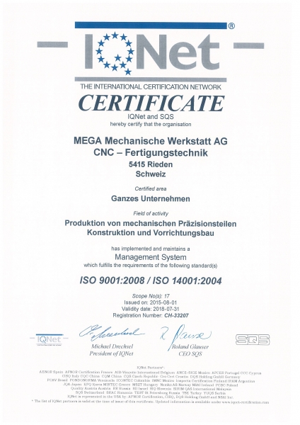 ISO9001 / ISO14001 International